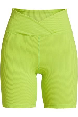 YEAR OF OURS Women's V-Waist Biker Shorts - Lime - Size XS