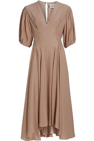 TOVE Women's Veda Silk Dress - Fawn - Size 6
