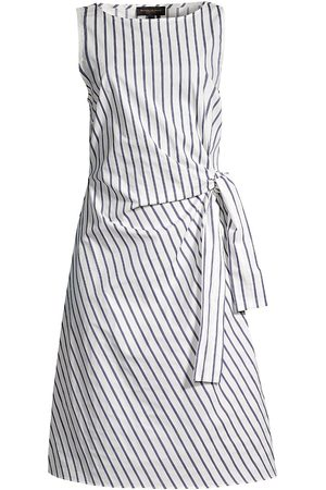 Donna Karan Women's Side-Tie Dress - Royal - Size 16