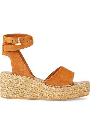 Lafayette 148 New York Women's Margot Suede Espadrille Platform Wedge Sandals - Copper - Size 40