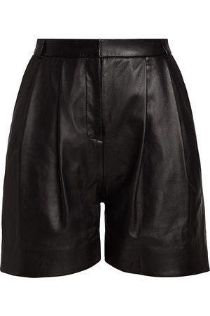 TOVE Women's Constance Pleated Leather Shorts - - Size 2