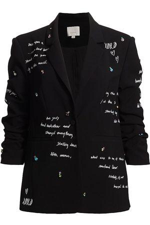 Cinq A Sept Women's Loveletter Kylie Blazer - Ivory - Size 10