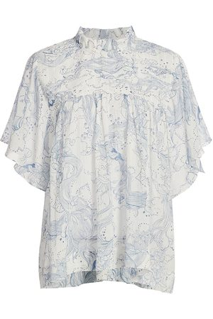 See by Chloé Women's Yseult Printed Blouse - - Size 12