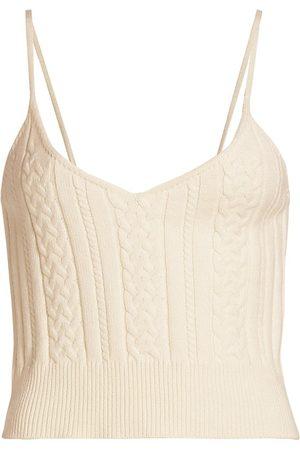 Gestuz Women's Soley V-Neck Knit Top - Egret - Size Large