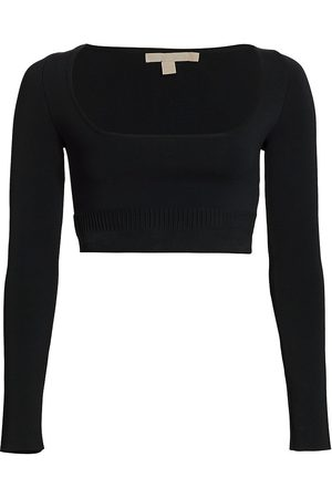 BROCK COLLECTION Women's Tomiko Crop Long-Sleeve Top - - Size Small