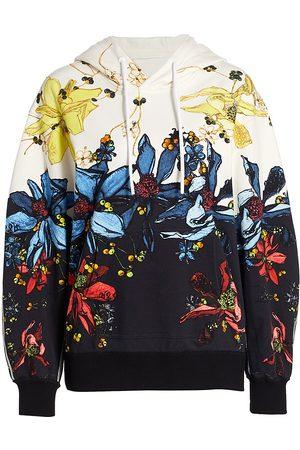 Jason Wu Women's Floral Hoodie - Chalk Navy - Size XS