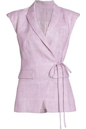 VERONICA BEARD Women's Geraldine Linen Vest - Lavender - Size 8