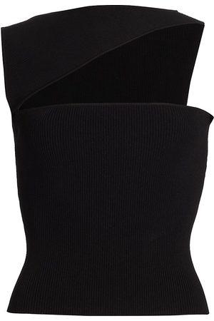GAUGE81 Women's Tajo Cut Out Ribbed Top - - Size Medium