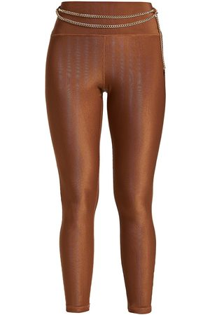 WeWoreWhat Women's Chain High-Rise Leggings - - Size Large