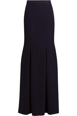 Halston Heritage Women's Eva Crepe Evening Skirt - Ink - Size 16