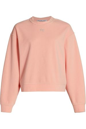 Alexander Wang Women's Velour Crewneck Sweatshirt - Quartz - Size Large