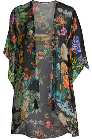 JOHNNY WAS Women's Dreamer Short Silk Kimono - Size Medium