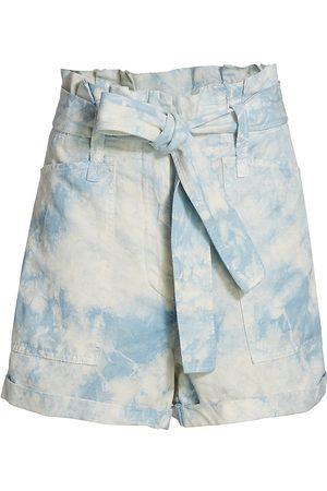 A.L.C. Women's Davidson Bleached Shorts - Marble - Size 2
