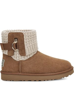 UGG Women's Classic Solene Mini Ankle Boots - Chestnut - Size 10
