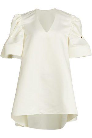 Kimberly Goldson Women's Paisley Baby Doll Mini Dress - Ghost - Size Small