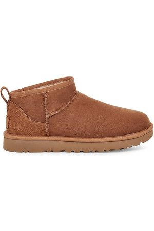 UGG Women's Classic Ultra Mini Sheepskin Ankle Boots - Chestnut - Size 11