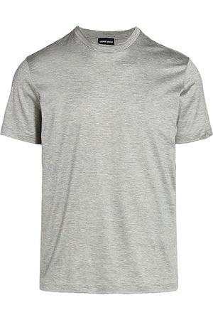 Armani Men's Crewneck T-Shirt - Grey - Size 48