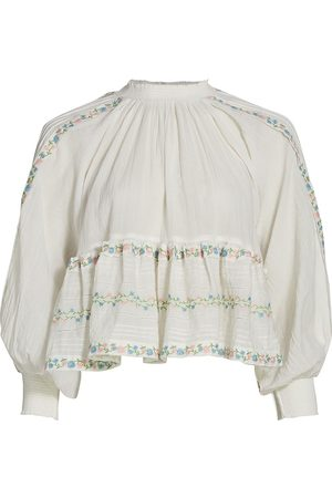 by Ti Mo Women's Floral Embroidered Top - - Size XS