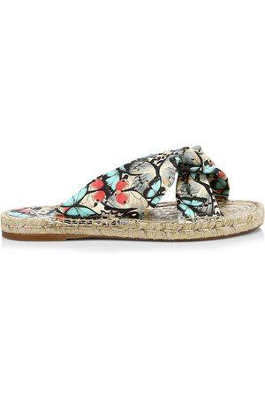 SOPHIA WEBSTER Women's Florita Butterfly-Print Espadrille Slides - Size 8.5 Sandals