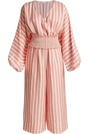 Rhode Women's Anika Striped Jumpsuit - Peach - Size Small