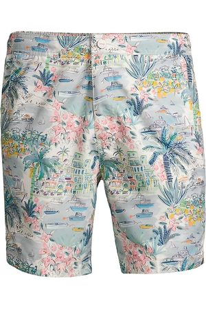 ONIA Men's Calder Printed Swim Trunks - Cool Mint - Size Large