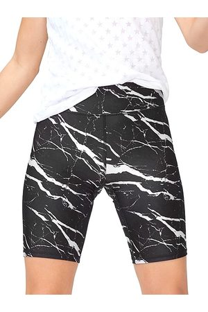Terez Women's Marble Bike Shorts - Marble - Size Medium