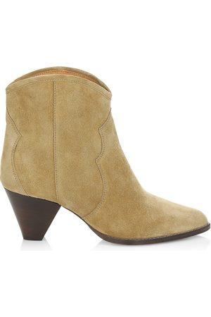 Isabel Marant Women's Darizo Western Suede Ankle Boots - Bronze - Size 10