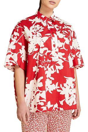 Persona by Marina Rinaldi Women's Fiacre Print Short-Sleeve Shirt - - Size 22