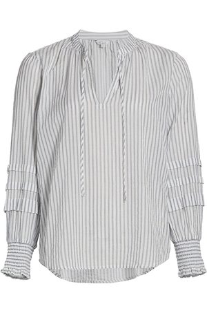 Rails Women's Caterina Striped Cotton Top - Bergen Stripe - Size Small