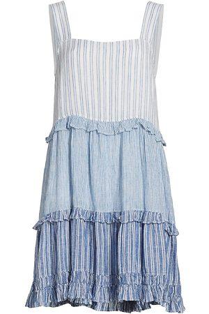 Rails Women's Sandy Strip Ruffle Tiered Mini Dress - Mixed Coast Stripe - Size XS