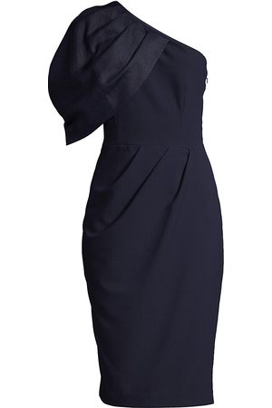 Black Halo Women's Puff Sleeve Cocktail Dress - Navy - Size 4