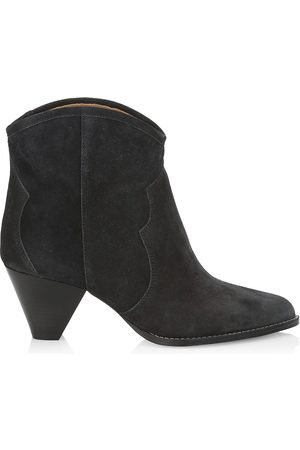 Isabel Marant Women's Darizo Western Suede Ankle Boots - Faded - Size 11