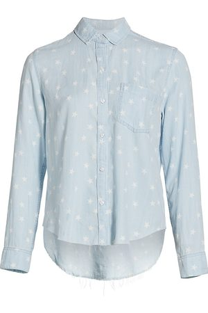 Rails Women's Ingrid Raw Star Print Denim Shirt - Light Vintage Stars - Size Small