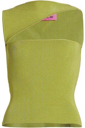 GAUGE81 Women's Tajo Cut Out Ribbed Top - Bright - Size Medium