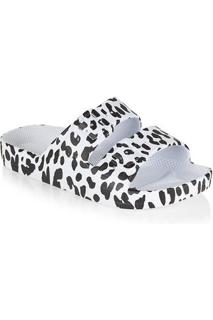 Freedom Moses Little Girl's and Girl's Leopard Slide Sandals - Leo - Size 10 (Toddler)