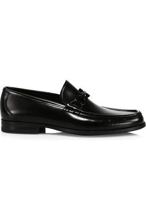 Salvatore Ferragamo Men's Grandioso Patent Leather Gancini Loafers - Nero - Size 13