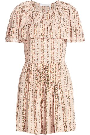 See by Chloé Women's Josephine Floral Mini Dress - - Size 2