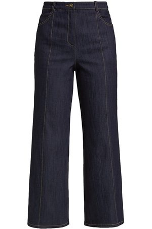 Cinq A Sept Women's Betty Cropped Denim Pants - Indigo Amber - Size 4