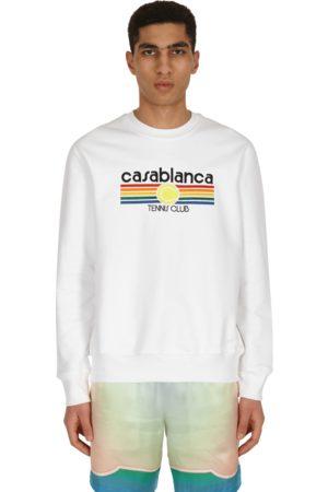 Casablanca Vintage tennis stripe crewneck sweatshirt S