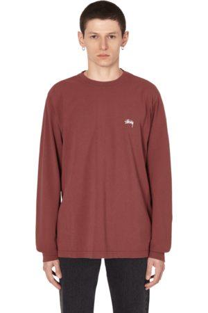 STUSSY Stock logo longsleeve t-shirt BURGUNDY S