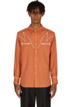 Wacko Maria Wolf's head western shirt S