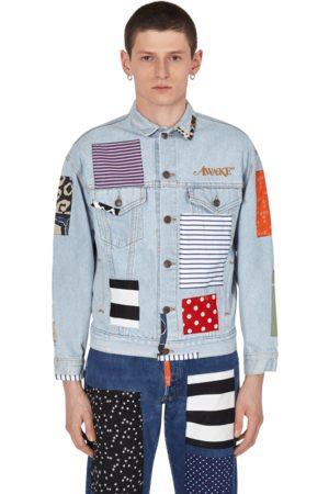 AWAKE NY Levi's trucker jacket DENIM PATCHWORK S