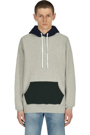 Noah NYC Color block hooded sweatshirt HEATHER GREY M