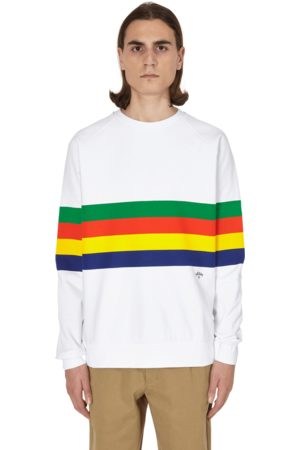 Noah NYC Printed stripe raglan crewneck sweatshirt S