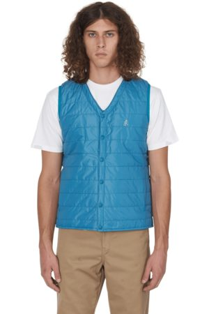 Gramicci Quilted shell gilet TEAL S