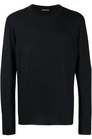 Balenciaga Men Sweatshirts - Back signature logo knitted jumper