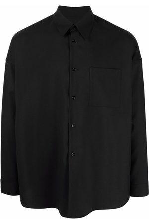 Marni Men Shirts - Virgin wool buttoned shirt