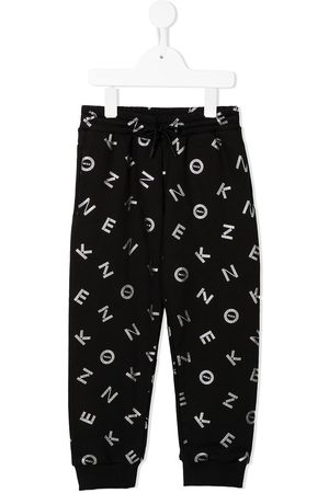 Kenzo Sweatpants - Logo-print metallic track pants