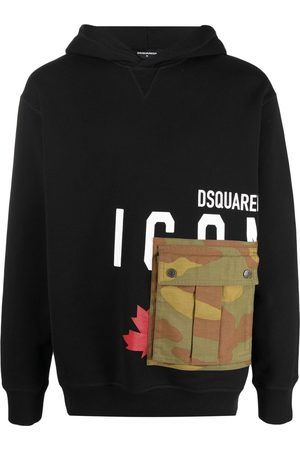 Dsquared2 Men Hoodies - Icon cargo-pocket hoodie