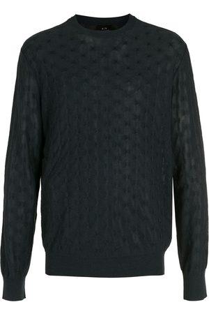 Armani Men Sweatshirts - Textured-knit jumper